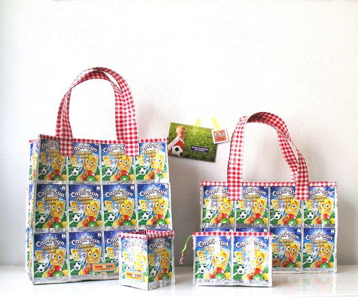 Leuke producten gemaakt van lege Capri Sun drinkpakjes, leeg gedronken door kinderen op school. Goed voor het milieu maar ook voor een goed doel namelijk KiKa. http://www.studioroodenburg.nl/