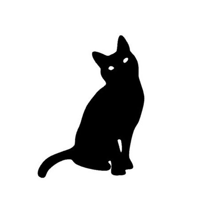 11*15CM Cartoon Cat Reflective Car Stickers Cute Animal Pet Cat Motorcycle Stickers Decals