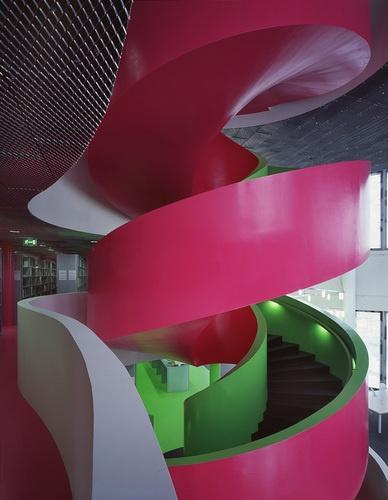 Bibliothek Cottbus, IKMZ BTU  #stairs