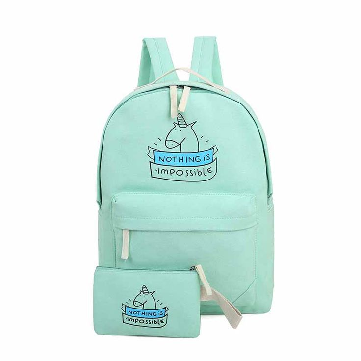 CIKER women canvas backpack fashion cute travel bags printing backpacks 2pcs/set new style laptop backpack for teenage girls