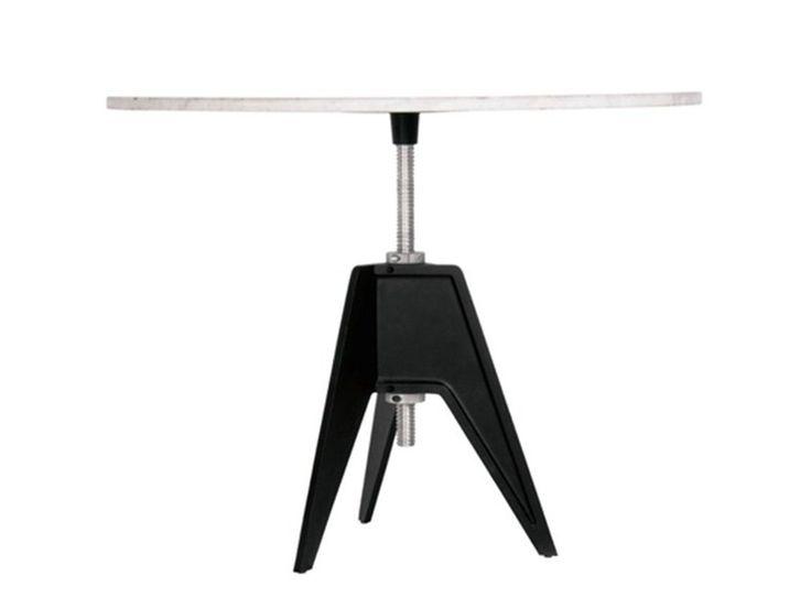Table réglable en hauteur ronde SCREW TABLE LARGE by Tom Dixon design Tom Dixon