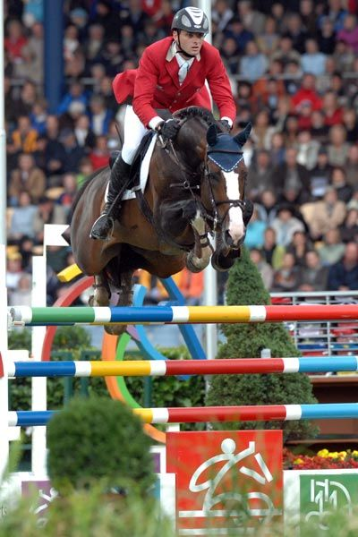Plot Blue  Prettiest horse in the Olympic Show Jumping
