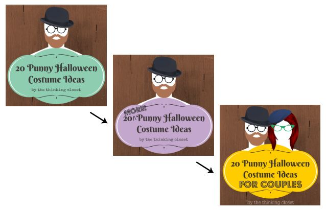 60 Punny Halloween Costume Ideas Rounded-Up for your Visual Irony pleasure over at thinkingcloset.com.  It's a veritable knee-slapper fest over there!  Get thee to the punnery!