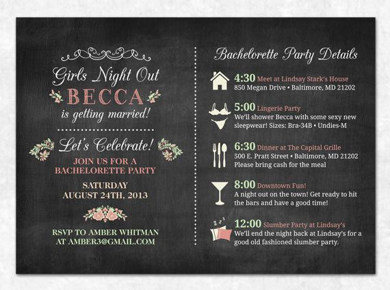 Hey, I found this really awesome Etsy listing at http://www.etsy.com/listing/157264432/chalkboard-bachelorette-invitation