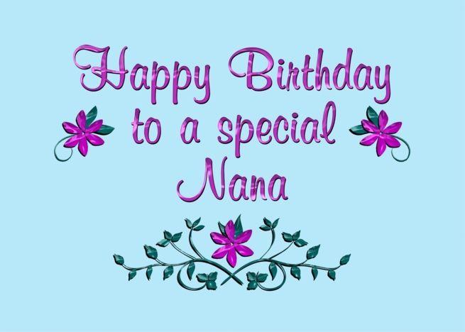 Happy Birthday Nana Purple Flowers Card Ad Ad Nana Birthday Happy Card Happy Birthday Godmother Happy Birthday Mother Happy Birthday Niece