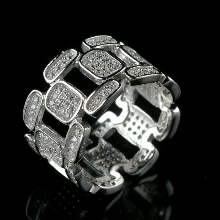 925 Solid Sterling Silver Zircon Gemstone Handmade Mens Ring Size 8.25 US R569 #Handmade #Cluster #Party