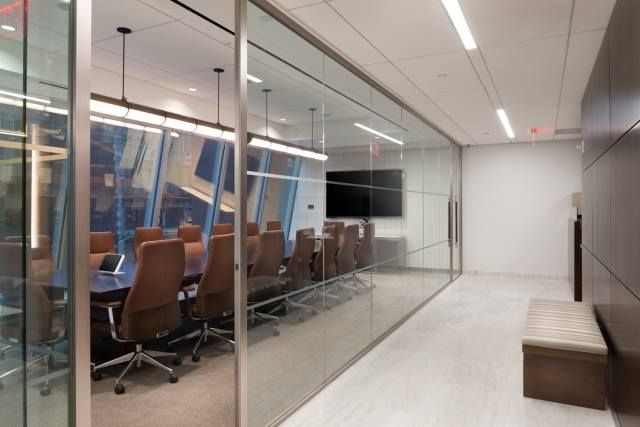 Mudrick Capital  Designer: John Gallin & Son    #mudrickcapital #office #johngallinson #tagwall #encore #interiordesign #officedesign #walldesign #workspaces