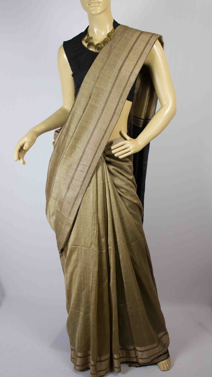 #Handwoven #cotton #saree #India #crafts #weaving