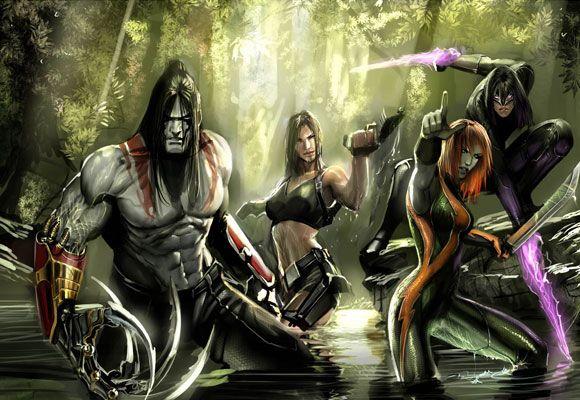 Lara Croft/CyberforceComics Art, Comics Image, Videos Games, Nebezial Deviantart Com, Cyber Force, Cyber Comics, Lara Croftcyberforc, Art History, Image Comics
