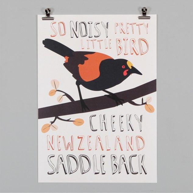Saddleback Print by Alice Berry