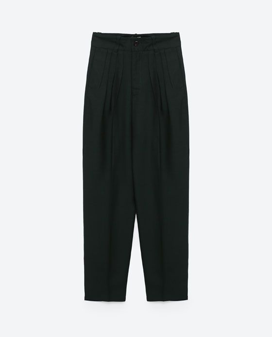 Image 8 of GATHERED TROUSERS from Zara
