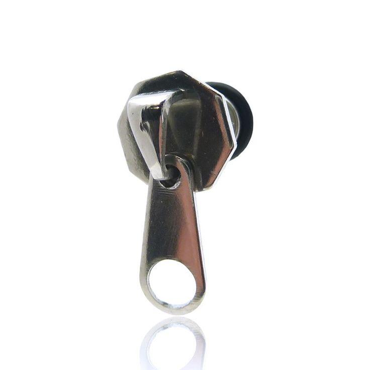 Piercing faux écarteur fermeture éclair zip
