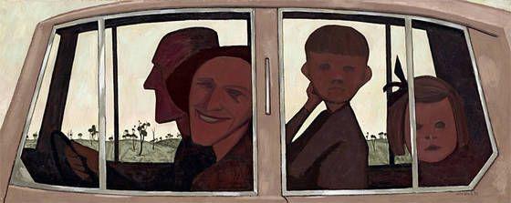 John Brack, 'The Car', 1955.