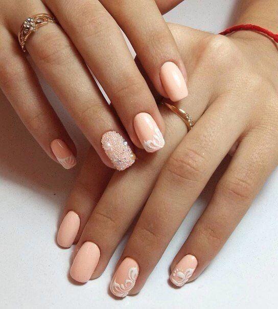 Caviar nails, Evening nails, Fall nail ideas, Luxury nails, Medium nails, Nails…