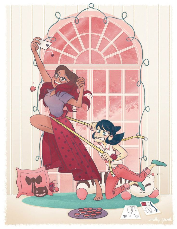 (Miraculous: Tales of Ladybug and Cat Noir) Alya Césaire and Marinette Dupain-Cheng