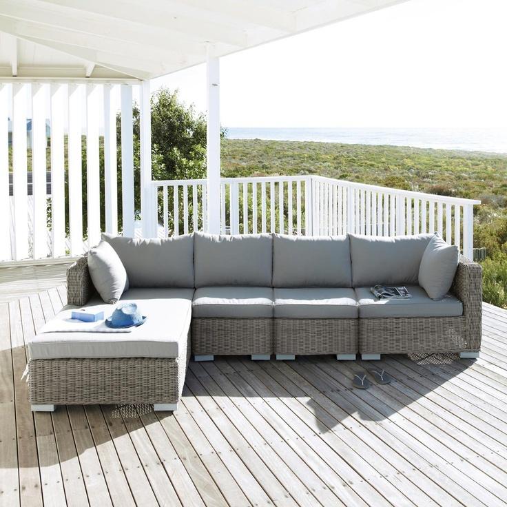 Pouf coffre maison du monde pouf design en velours for Sofa exterior conforama