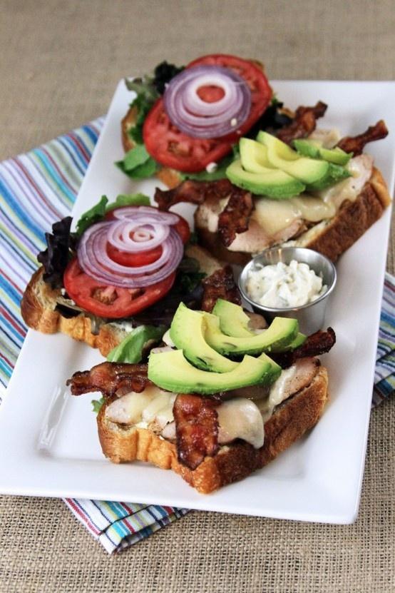 Bacon Avocado Chicken Sandwich with Garlic Basil Mayo
