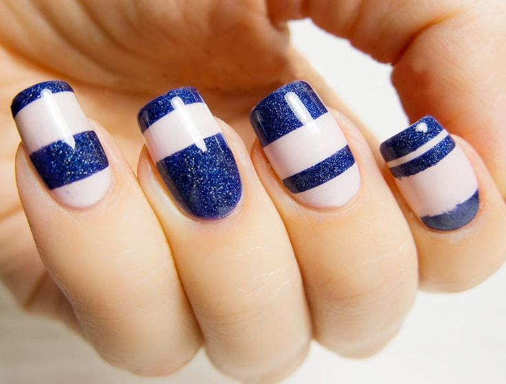 Nail Art Designs In Blue Colour Hession Hairdressing
