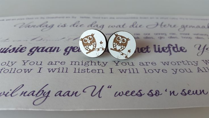 Wooden Laser Cut designed earrings