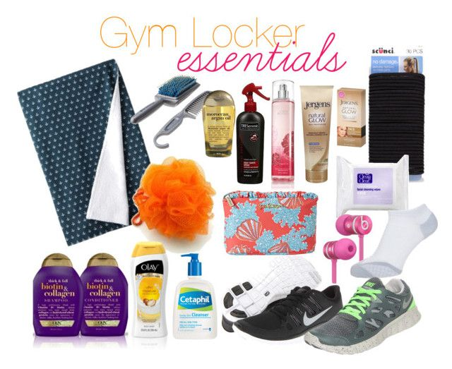 """Gym Locker Essentials"" by renaynayd ❤ liked on Polyvore"