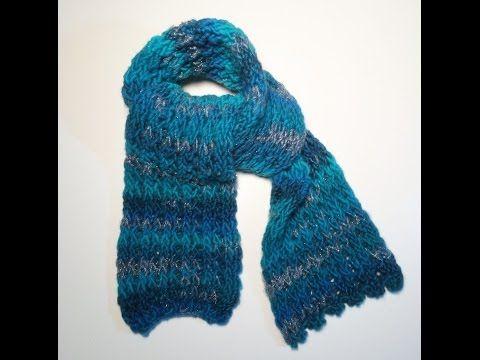 Simpele sjaal breien op je loombord of met een breiraam