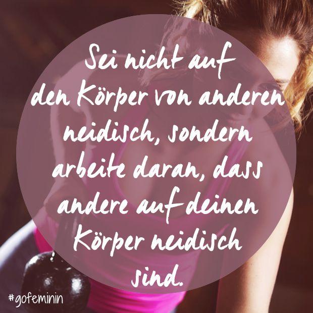Fitspiration gesucht? Hier kommt die beste Motivation für den Sport! Noch mehr Sprüche hier: www.gofeminin.de/wellness/album1157846/die-besten-motivationsspruche-fur-den-sport-0.html