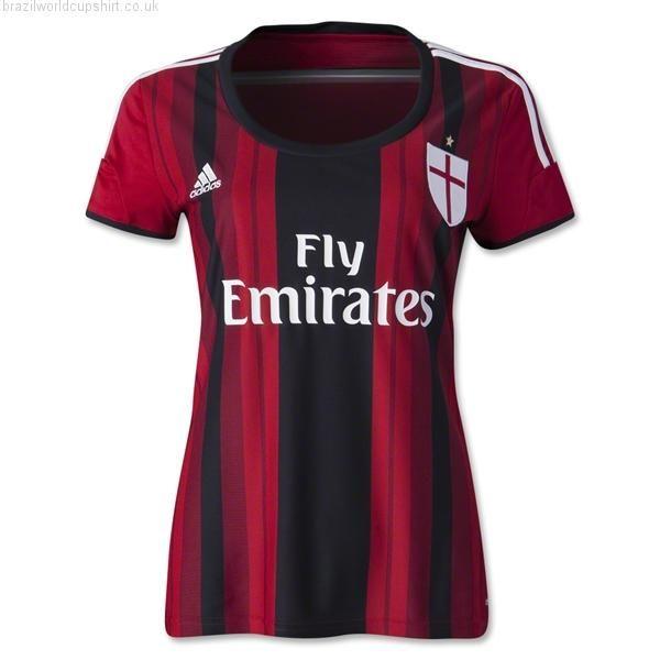 AC Milan Womens 2014-15 Home Football Shirt.