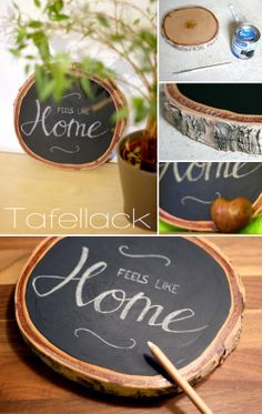 Gingered Things: Tafellack und Holz