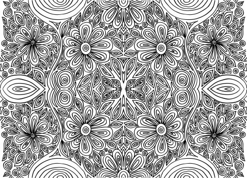 Coloring Pages For Adults That You Can Print : Best advanced flower coloring pages images