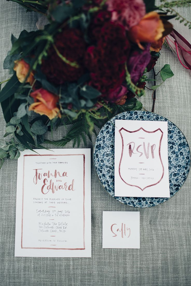 marsala wedding colors - photo by Figtree Pictures http://ruffledblog.com/moody-industrial-wedding-inspiration