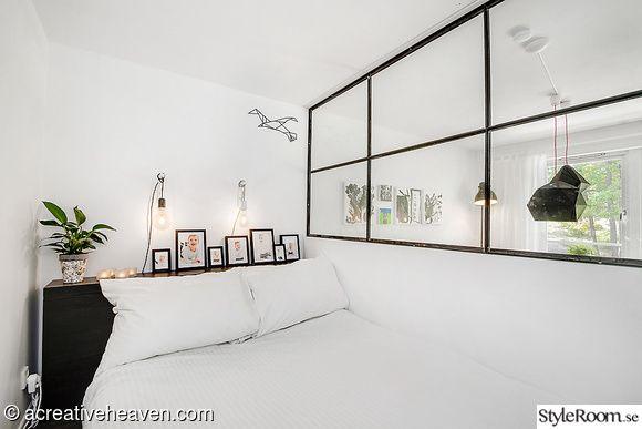 rumsavdelare,sovrum,svart,metallic,säng