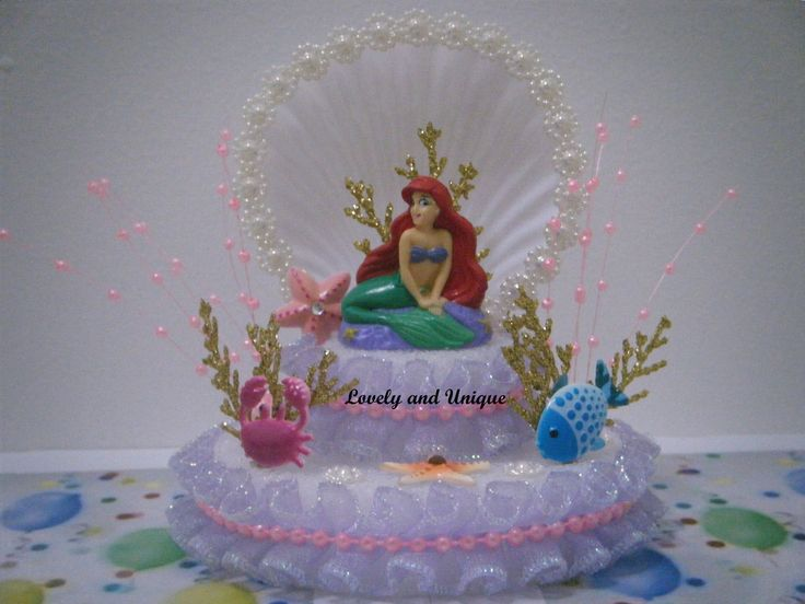 The Little Mermaid Cake Topper