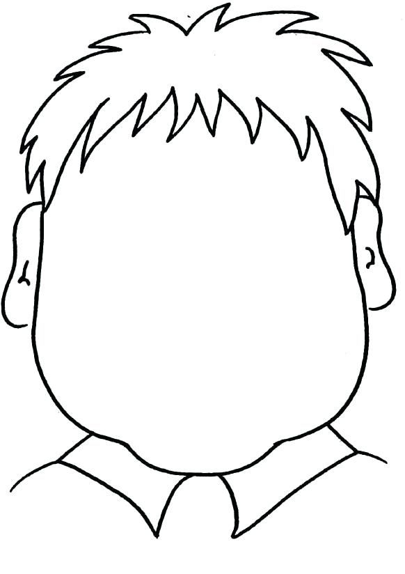 Woman Empty Face Coloring Page Color People Blank Faces