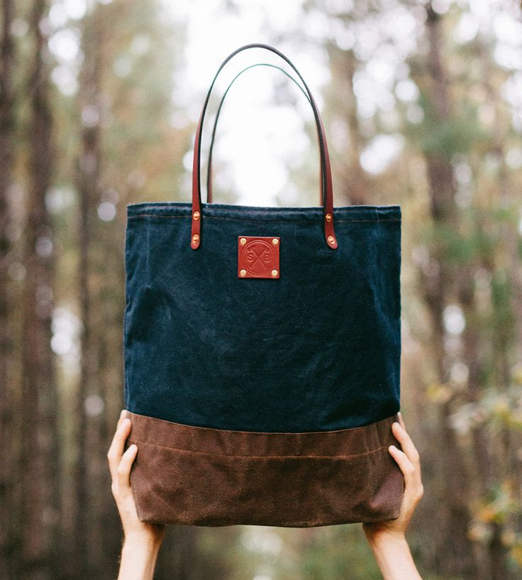 Love this :: Waxed Canvas & Leather Tote Bag by Sturdy Brothers
