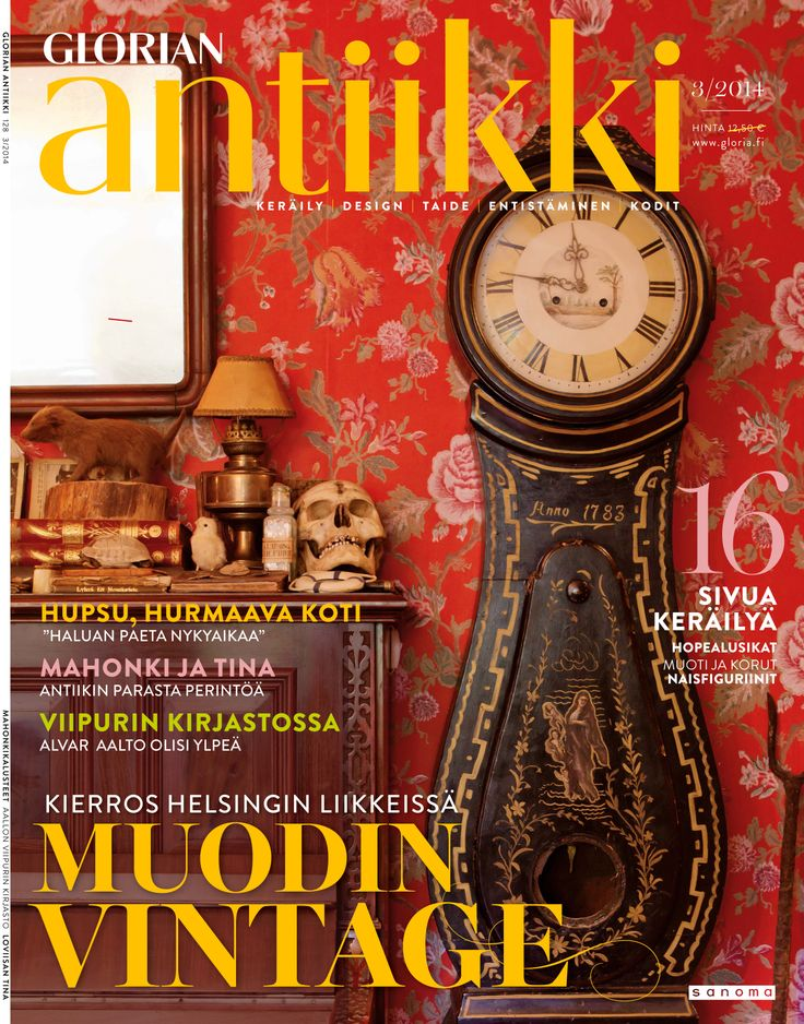 Magazine cover 3/2014. Wonderful tiny home with Victorian furniture and stuffed animals. Photo: Riitta Sourander.