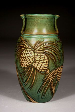 Foxlo Pottery - Pinecones - Wheel Thrown and Hand Carved