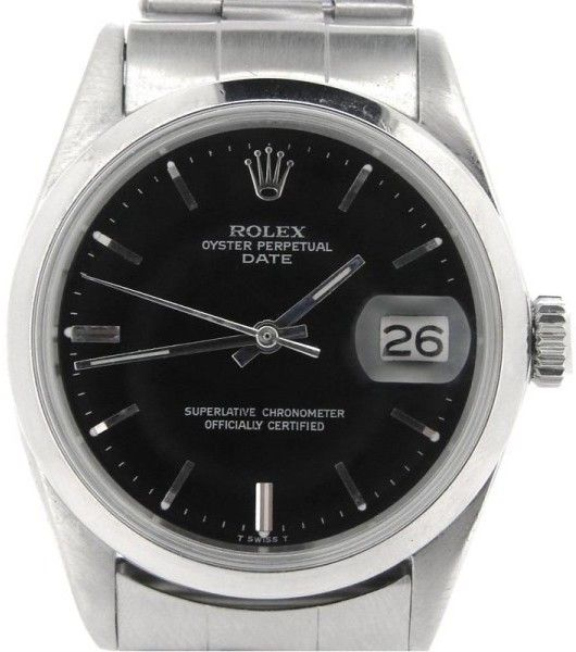 Rolex Date 15000 34mm Stainless Steel Watch