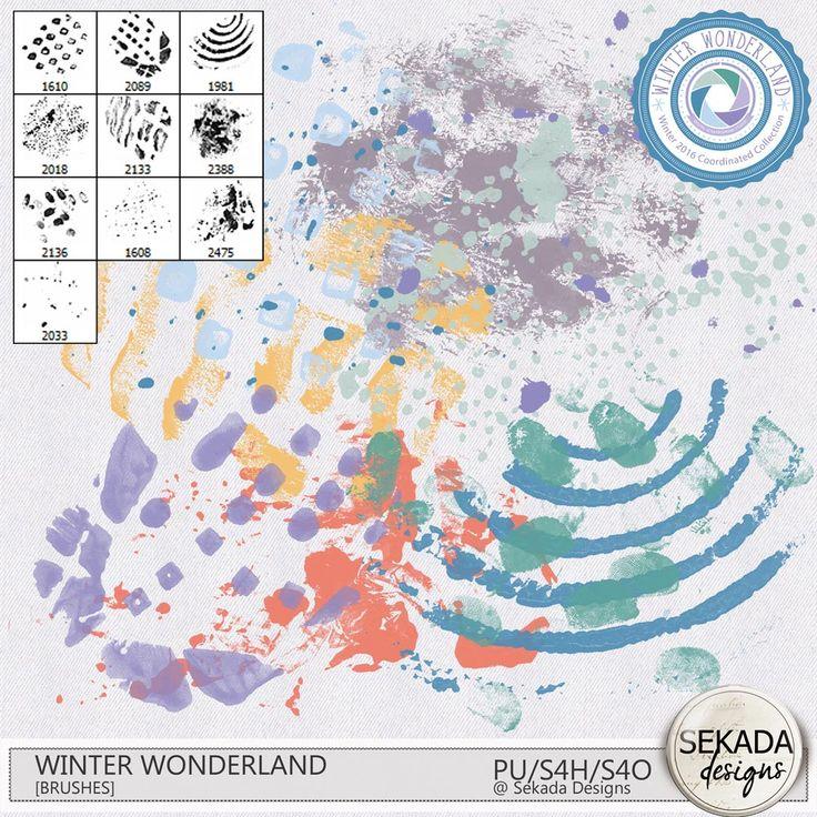 Digital Art :: Photoshop Tools :: Winter Wonderland Artsy Brushes