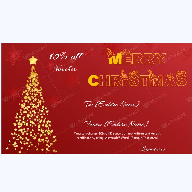 61 best Merry Christmas Gift Certificate Templates images on - christmas card word template