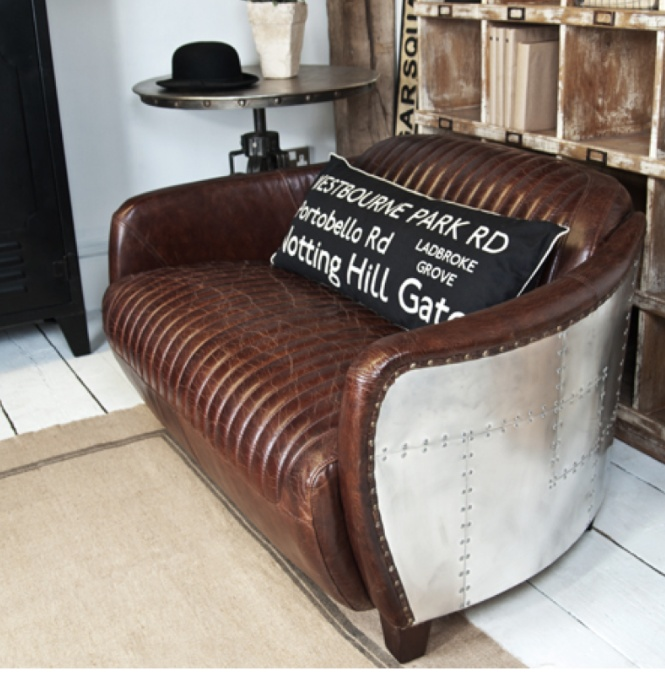 From GDUKStyle.com Reloved (now Upcycled) feature: Uniche Furnishings Interiors Lancaster Two Seater Sofa £1150