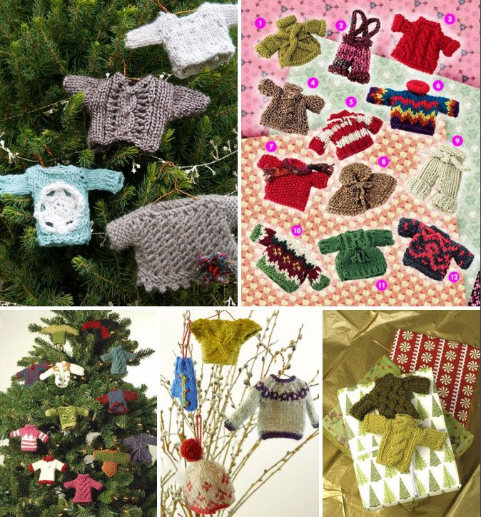 Knitted Xmas Tree Decorations Patterns : 17 Best images about free Christmas knitting patterns on Pinterest Free pat...