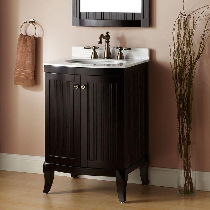 """Powder Room Bathroom Vanities: 24"""" Palmetto Espresso Vanity"""