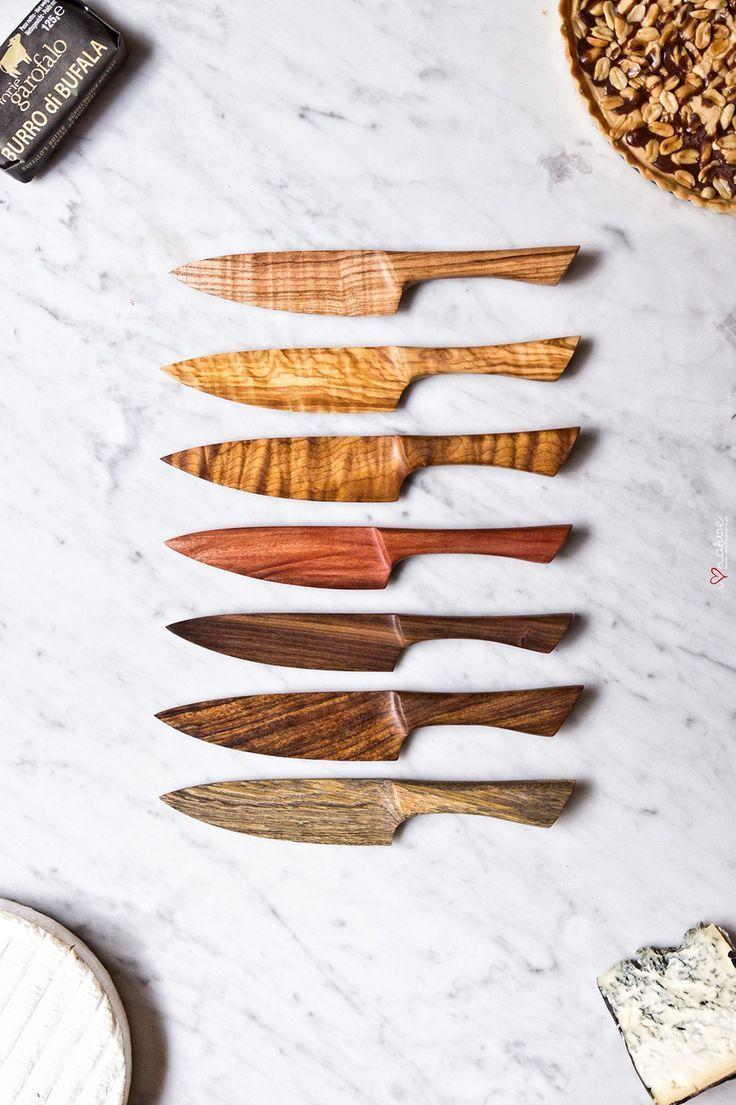 Käse- und Kuchenmesser aus Holz