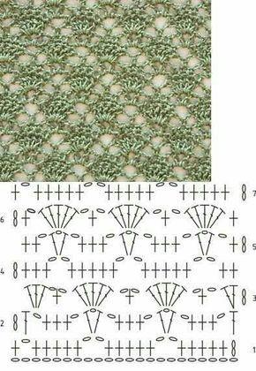 20 x Stitch crochet diagram. Más