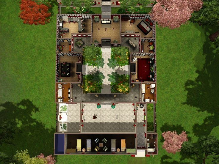 Traditional chinese houses courtyard for Asian style home plans