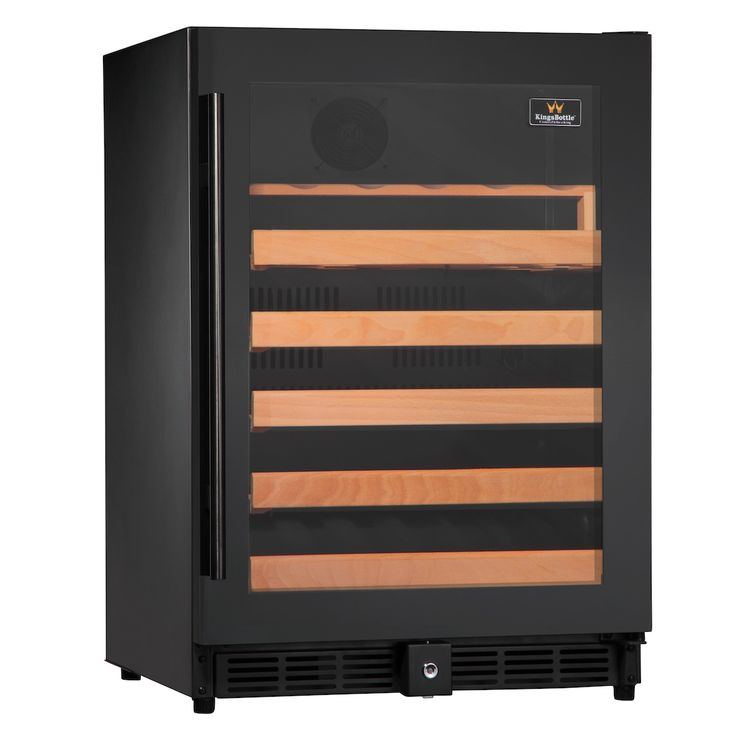 Kingsbottle 50 Bottle Single Zone Wine Cooler (Black)  http://qualitywinecoolers.com/products/kingsbottle-50-bottle-compressor-single-zone-wine-cooler-1