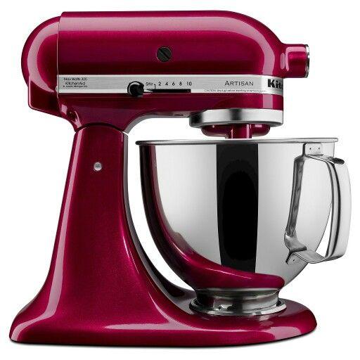 KitchenAid mixer, color: Bordeaux
