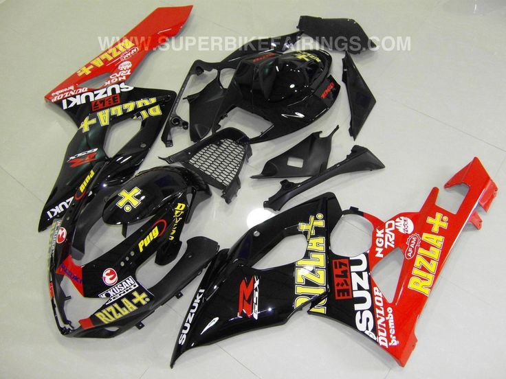 2005-2006 GSXR-1000 Black & Red Rizla Fairings