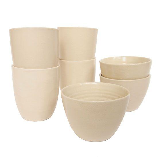 mug & bowl earthenware cream