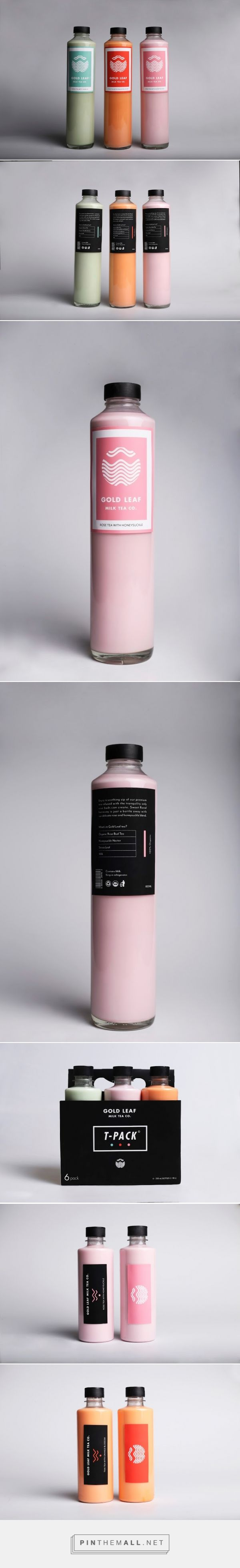 GoldLeaf Milk Tea Co. (Student Project) packaging design by Adam Heisig curated by Packaging Diva PD.  GoldLeaf Milk Tea Co. is reinventing the tea drinking experience with it's diverse blends of flavorful milk teas.